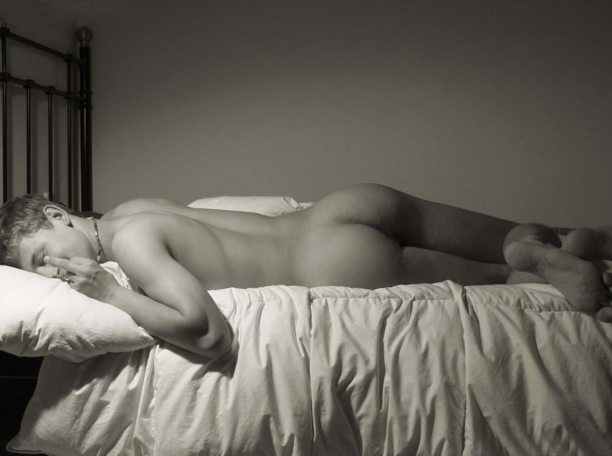 naked bottom boy on bed